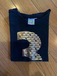 ディズニー ピクサー DISNEY トイストーリー 3 コラボ ブラック 黒 半袖 Tシャツ キッズ 子供服 男の子 100 中古 バズ・ライトイヤー