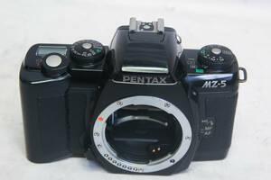 4送料無料お徳です。中古。作動確認済み。ペンタックス PENTAX MZ-5 一眼レフ フィルムカメラ ボディーのみ ブラック