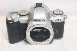 6即決。送料無料お徳です。中古。作動確認済み。ペンタックス PENTAX MZ-5 一眼レフ フィルムカメラ ボディーのみ シルバー