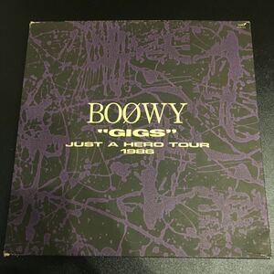 """BOOWY """"GIGS"""" JUST A HERO TOUR 1986 初回限定版 CD 氷室京介 布袋寅泰 松井常松 高橋まこと"""