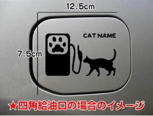 【送料無料】猫 ねこ CAT cat 給油口 ステッカー シルエット 車