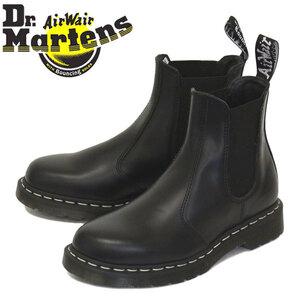 正規 Dr.Martens (ドクターマーチン) 26257001 2976 WHITE STITCH チェルシー サイドゴア レザーブーツ BLACK UK9-約28.0cm