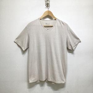 【送料無料】remilla レミーラ 14SS 半袖VネックTシャツ marble Vneck TEE ベージュ系 メンズ L F3-73