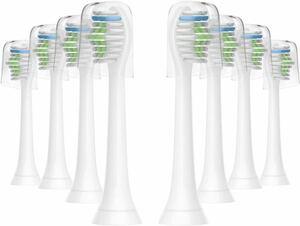 電動歯ブラシ用 替えブラシ 互換ブラシヘッド フィリップス ソニッケアー ダイヤモンドクリ 対応 8本入 HX6068