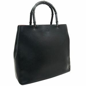 ● グッチ ハンドバッグ バンブー トートバッグ レザー 革 ブラック 黒 002 1059 GUCCI 手提げ バッグ バック カバン 鞄