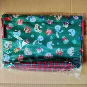 巾着型 ランチバッグ クリスマス ダッフィー ジェラトーニ シェリーメイ ステラルー スーベニア ランチケース ミニバッグ ディズニーシー