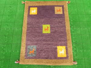 ギャッベ◆ペルシャ絨毯◆アンティーク 家具◆北欧◆骨董◆茶道 華道◆【j-A11】