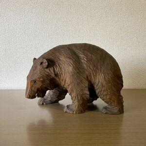 木彫り 熊 作者不明 高さ15cm ガラス目 北海道 民芸品 工芸品 木彫りの熊 くま クマ 置物 彫刻 八雲 旭川 白老 アイヌ