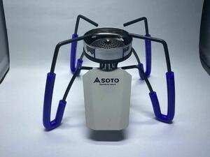 ★屋外で目立つ★SOTO ST-310 専用 ウィンドスクリーン(風防)&耐熱チューブ青4本