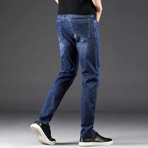 メンズ ジーパン デニム ストレート パンツ ジーンズ ロング ストレッチ ビジネス カジュアル 大きいサイズ