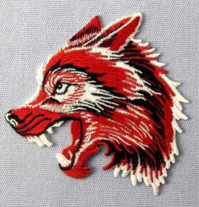 アイロンワッペン 刺繍ワッペン ウルフ wolf 狼 オオカミ ワッペン アップリケ かっこいいワッペン
