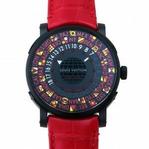ルイ・ヴィトン LOUIS VUITTON エスカル タイムゾーン 日本限定 Q5D23 ブラック文字盤 中古 腕時計 メンズ