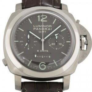 パネライ PANERAI ルミノール1950 8デイズ クロノグラフ モノプルサンテ GMT PAM00311 ブラウン文字盤 新品 腕時計 メンズ