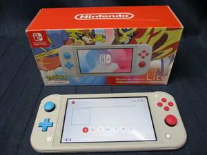 A5-289 送料無料「任天堂 スイッチライト 本体のみ」保証期間残あり HDH-001 ザシアン・ザマゼンタ ポケモン Nintendo Switch Lite