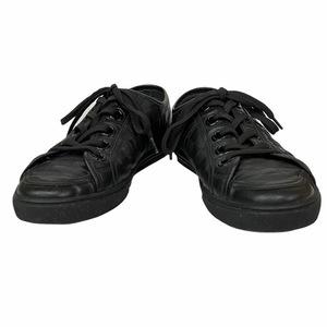 LOUIS VUITTON ルイ ヴィトン MS1009 ダミエ アンフィニ スニーカー 靴 シューズ ローカット レザー ブラック [サイズ 6 1/2 (約25.5cm)]