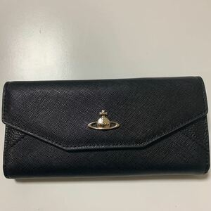 美品 Vivienne Westwood ヴィヴィアンウエストウッド 長財布 ブラック レディース財布