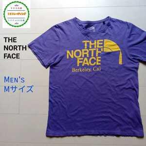 074【格安】ノースフェイス THE NORTH FACE 半袖Tシャツ パープル メンズM ゴールドウィン