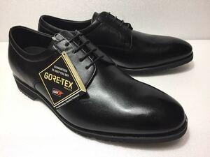 未使用!! madras Walk マドラス ウォーク MW8002 黒 プレーントゥ GORE-TEX 4E 27cm ゴアテックス 防水 透湿 紳士 靴