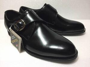未使用!! madras Walk マドラス ウォーク 日本製 MW5823 黒 モンクストラップ GORE-TEX 4E 26.5cm ゴアテックス 防水 透湿 紳士 靴