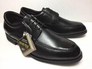 未使用!! madras Walk マドラス ウォーク 日本製 MW5500P 黒 Uチップ 外羽根 GORE-TEX 4E 27.5cm ゴアテックス 防水 透湿 紳士 靴