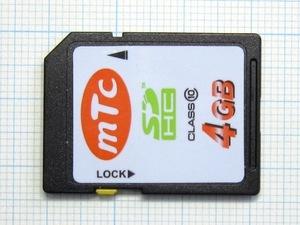 ★mTc SDHCメモリーカード 4GB 中古★送料63円~