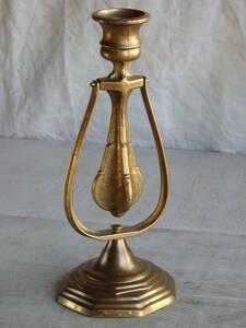フランスアンティーク キャンドルスタンド 壁付け ウォール スタンド 1灯 蝋燭立て ブロンズ 青銅 デコ インテリア 燭台 蚤の市