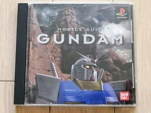 機動戦士ガンダム 帯 ステッカー付 MOBILE SUIT GUNDAM プレイステーション PS1 ソフト