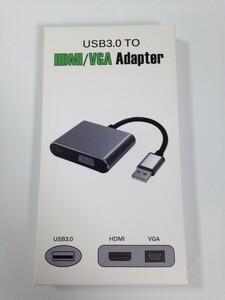 USB3.0→HDMI,VGA 変換アダプター 中古品
