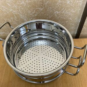 ジオプロダクト 蒸し器付き鍋25センチ