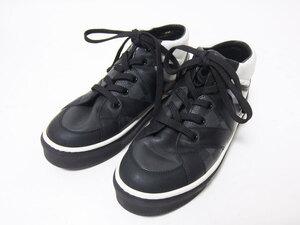 送料無料 LOUIS VUITTON ルイヴィトン キッズ スニーカー 靴 ダミエグラフィット ブラック ホワイト 33 中古