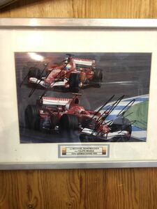 F1 ミハエルシューマッハ、フェリペマッサ 直筆サイン 写真
