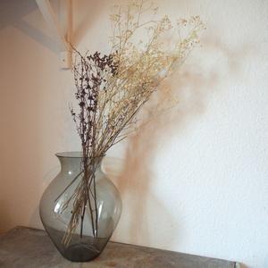 西ドイツ ヴィンテージ Richard Susmuth ガラス ハンドメイド 花瓶 花器グレー ミッドセンチュリー店舗什器フラワーベースアートオブジェ