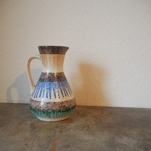 西ドイツ ヴィンテージ Scheurich fat lava ハンドメイド 花器 花瓶 ミッドセンチュリー 小物 店舗什器 フラワーベース 陶器 アート古道具