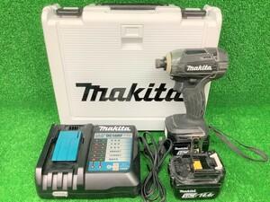 中古品 makita マキタ 14.4V 3.0Ah 充電式 インパクトドライバ TD138DRFXB