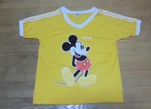 ヴィンテージ 80s ミッキーマウス Tシャツ L MADE IN USA 米国製 ビンテージ イエロー