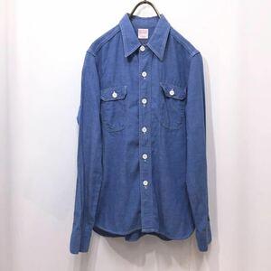 【送料360円】BEAMS BOY ビームスボーイ シャンブレーシャツ 長袖ワークシャツ 女性用 レディース 日本製 綿素材 O-775