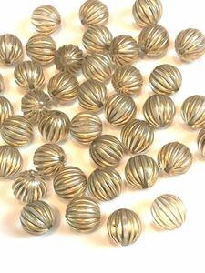 アンティーク ビーズ ゴールド クリア かぼちゃビーズ パンプキンビーズ アクリルビーズ ビーズ アンティーク調 透明 金色