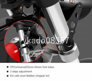YA001:ヘッドライトステー/【ブラック】フォーク径35Φ~43Φ/カフェ/レーサー/XJR400/SR400/500/ドラッグ