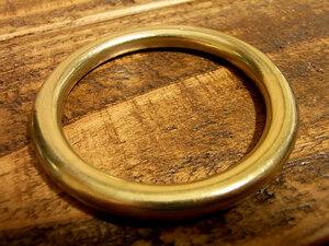 マルカン 丸カン 真鍮 無垢 ブラス 45mm レザー ベルト 革 4.5cm リング カスタム キーホルダー レザークラフトに