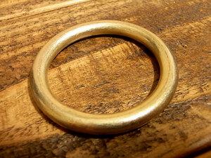 マルカン 丸カン 真鍮 無垢 ブラス 40mm レザー ベルト 革 4cm リング カスタム キーホルダー レザークラフトに