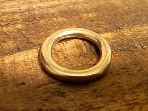 マルカン 丸カン 真鍮 無垢 ブラス 15mm レザー ベルト 革 1.5cm リング カスタム キーホルダー レザークラフトに