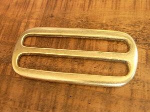 コキカン 角カン 50mm 真鍮 無垢 ブラス レザー ベルト 革 5cm 真鍮無垢 カスタム キーホルダー レザークラフトに
