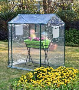 新品推薦 育苗用 小型 PVC素材 ビニールハウス 温室 ガーデンハウス 簡易温室 巻き上げ式 透明 家庭菜園 庭弄り 植木鉢