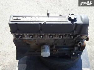 Nissan original L type L20 modified L26 specification turbo engine body block set long-term keeping goods old car that time thing Hakosuka Ken&Mary Fairlady Z shelves 1B22