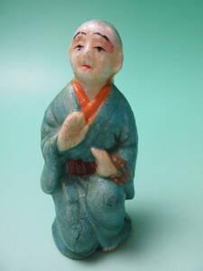 W 103☆☆ 小さい 土人形 和尚様 ☆☆ 検)郷土玩具 時代物 民芸品 お土産 ビンテージ 昭和レトロ アンティーク 泥人形 陶器人形 豆人形