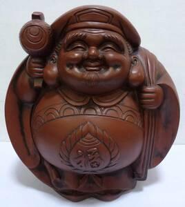 大黒天 七福神 置物 高さ約34cm 開運 縁起物 商売繁盛 財宝 和風 インテリア オブジェ 飾り