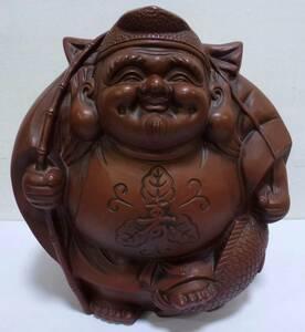 恵比寿 えびす様 七福神 置物 高さ約34cm 開運 縁起物 商売繁盛 財宝 和風 インテリア オブジェ 飾り