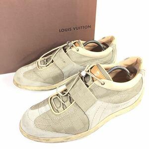 【ルイヴィトン】本物 LOUIS VUITTON 靴 26cm ダミエ スニーカー カジュアルシューズ スエード×ジャガード 男性用 メンズ イタリア製 7 箱