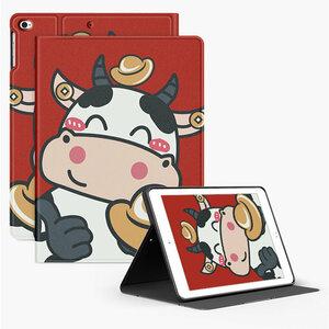 ipad mini5 ケース iPad mini(第5世代) 7.9インチ ケース アイパッドミニ5 手帳型 ソフトカバー オートスリープ機能付き 乳牛 かわいい