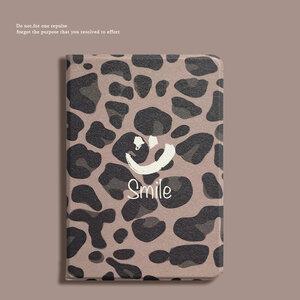 ipad mini5 ケース iPad mini(第5世代) 7.9インチ ケース 手帳型 段階調整 オートスリープ機能付き ソフトカバー Smile ヒョウ柄 おしゃれ